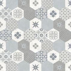 Modern Wallpaper Patchwork Tiles Muriva L4050 - http://www.muriva.com/portfolios/modern-wallpaper-patchwork-tiles-muriva-l4050/
