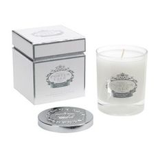 Portus Cale White and Silver Scented Candle
