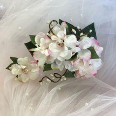 Ivory flower wedding hairpiece wedding hair by HollyHoopsArt