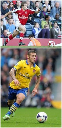 Wilshere's 1st appearance vs his 100th