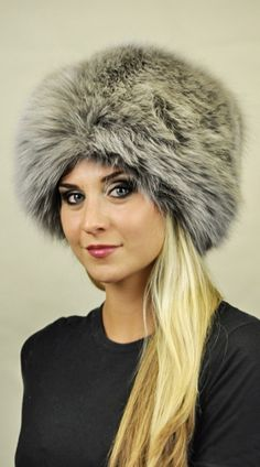 Cappello volpe azzurrata  www.amifur.it