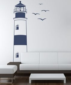 Lighthouse Wall Decal » So fun, I am going to do this in my basement!