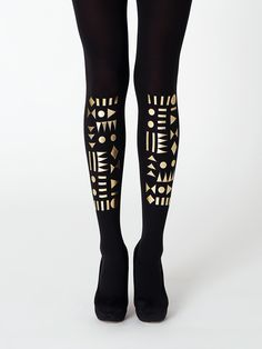 32b0f0394 Geometric tights from the Black And Gold Collection by Virivee! Best  quality and Toxic-