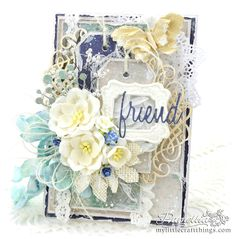 My Little Craft Things: Shabby Blue Birthday with Video
