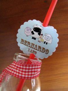 Tag canudo Festa Fazendinha | Design Festeiro