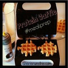 PROTEIN WAFFLES ½ cup old fashioned oats ½ cup low fat cottage cheese 2 eggs ½ tsp vanilla ½ tsp baking powder ½ tsp cinnamon Dash of salt {optional} Healthy Eating Recipes, Healthy Cooking, Healthy Snacks, Cooking Recipes, Protein Waffles, Protein Snacks, Waffle Maker Recipes, Fiber Foods, Pancakes And Waffles