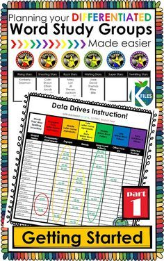 Differentiate your Word Study groups (with or without Words Their Way)! This resource is proven to help make your planning, organization, routine & implementation of differentiated Word Study and Spelling groups much easier! Your Daily 5 literacy centers Word Study Activities, Spelling Activities, First Grade Activities, Listening Activities, Grade Spelling, Spelling Words, Literacy Stations, Literacy Centers, Reading Stations