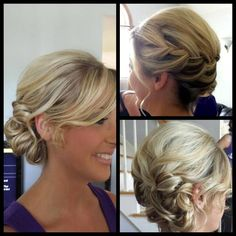 Clean hair and some skill and technique I learned along the way- Wedding updo Short Updo Wedding, Entourage, Hair Lengths, Updos, Bridal Hair, Wedding Hairstyles, Braids, Hair Beauty, Wedding Day