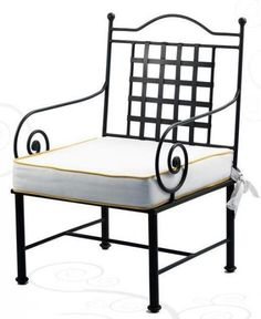 Office Chair Without Wheels Wrought Iron Decor, Wrought Iron Patio Chairs, Metal Chairs, Metal Patio Furniture, Iron Furniture, Steel Furniture, Accent Chairs For Sale, Black Dining Room Chairs, Iron Table