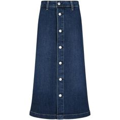 AG x Alexa Chung Cool Denim Skirt in Beat as seen on Bella Thorne