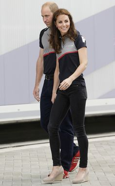 Kate Middleton and Prince William don matching polos for America's Cup from InStyle.com