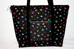 Black Overnight Bag Travel Bag Gym Bag Beach Bag by sheliawinstead, $35.00