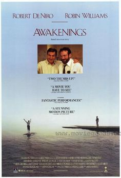 ROBERT DENIRO ROBIN WILLIAMS awakenings movie poster DOCTOR patient 24X36