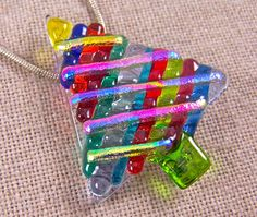 NICE TREE~! #Dichroic_Glass #Christmas_Tree ~ RAINBOW RocK CaNDY by HaydenBrook, $24.99