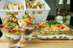 Nacho Bar + 8 Layer Dip - 8 layers of nacho dipping goodness... in individual servings none-the-less!