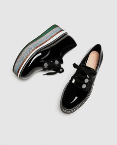 FLATFORM PATENT FINISH DERBY SHOES-View all-SHOES-WOMAN   ZARA Slovenia