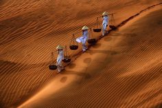 Sulle dune nel Sud del Vietnam