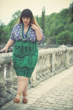 Anna Scholz Fitted Print Blocking Dress By Stephanie Zwicky (Le Blog de Big Beauty) ♥