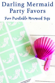 Download these darling Mermaid printable tags from Everyday Party Magazine and use them for parties, cupcake toppers, or even gift tags! #PartyTags #MermaidParty #MermaidPrintables