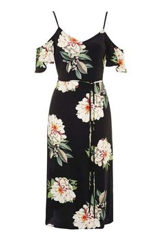 PETITE Foral Cold Shoulder Midi Dress - New In This Week - New In - Topshop
