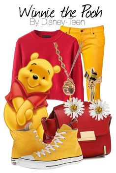 A fashion look from January 2015 featuring Ksubi jeans, Converse sneakers and ALDO shoulder bags. Browse and shop related looks. Costume Halloween, Halloween Costumes For Teens, Cute Costumes, Disney Costumes For Women, Costume Ideas, Winnie The Pooh Costume, Mickey Mouse Costume, Disney Inspired Fashion, Disney Fashion