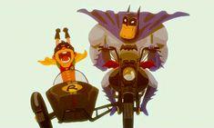 Whhhheeeeeeeeeeee!   and Batman just shakes his head and wonders why I was chosen to be Robin