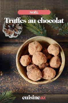 Les truffes au chocolat sont une gourmandise incontournable de la période de Noël. #recette#cuisine#pates#patisserie #noel#fete#findannee #fetesdefindannee Caramel, Macaron, Cereal, Sweets, Breakfast, Chocolate Truffles, Sweet Treats, Recipes, Thermomix
