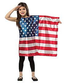 USA Flag Dress Child Costume