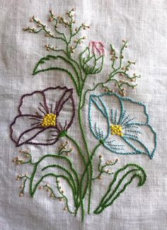 Hand embroidery/Hand embroidery stitches/Flower basket embroidery design for cus. Hand embroidery/Hand embroidery stitches/Flower basket embroidery design for cus… – BORDADOS Brazilian Embroidery Stitches, Embroidery Stitches Tutorial, Embroidery Flowers Pattern, Crewel Embroidery, Embroidery Techniques, Cross Stitch Embroidery, Embroidery Needles, Vintage Embroidery, Beginner Embroidery