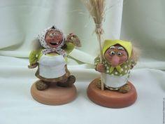 Серия `Бабки- Ежки - девичник` Baba Yaga, Paperclay, Miniature Houses, Handmade Polymer Clay, Snow Globes, Miniatures, Dolls, Christmas Ornaments, Holiday Decor