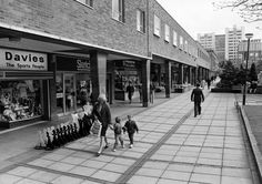 A mother and two young boys walk past the shops in Smithford Way, Coventry. Coventry City Fc, Photographs And Memories, Where The Heart Is, Back In The Day, Great Places, Street View, Young Boys, Chester, Locarno