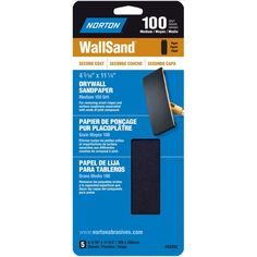 """Norton 03252 4-3/16"""" X 11"""" 100 Grit Drywall Sand Pack 5-count"""