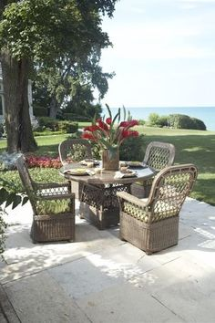 The Ernest Hemingway Collection of outdoor furniture, by Laneventure, offers stylish pieces for your outdoor entertaining needs. Outdoor Furniture Inspiration, Outdoor Furniture Sets, Outdoor Decor, Lakeside Living, She Sheds, Ernest Hemingway, Outdoor Entertaining, Home Furnishings, Patio