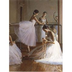 Free shipping!!!the ballet dancers in the dance studio figure oil paintings on canvas  for decoration on AliExpress.com. $58.96