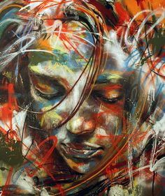 street art by david walker using spray paint only. venice beach, ca has a program that allows this form of self expression