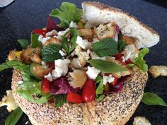 Salad in a Bread Bowl