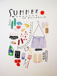 northmagneticpole: Summer in Australia-Nidi Natsumatsuri exhibition, Grace Lee