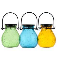 Bubble Glass Solar Lantern - Emerald
