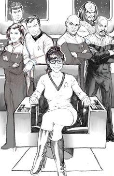 Star Trek The Next Generation of Sex Ed cover #Startrek #sexed #sketch #jamestkirk #picard #worf #spock #janeway #sisko  shevibe.com