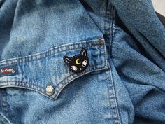 Moon Cat Acrylic Pin