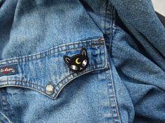 Moon Cat Acrylic Pin