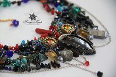 "Design necklace ""Iridescent Bird"" by SMorozovaDesign on Etsy"