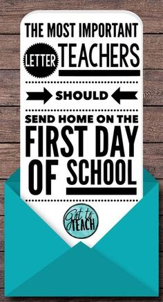 Teachers you will love this! This is the most important letter I send home all year!!!