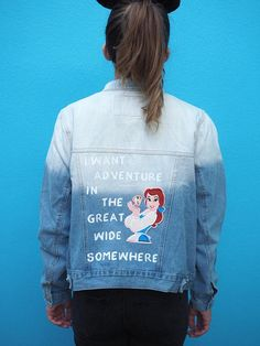 Are you looking to test your style with the new Denim jacket trend? If so you'll love these Disney Princess Denim Jackets from Rita Lane Vintage on Etsy. Disneybound Outfits, Disney Outfits, Disney Clothes, Disney Fashion, High Fashion, Vintage Jacket, Vintage Denim, Merida, Vintage Disney Princess