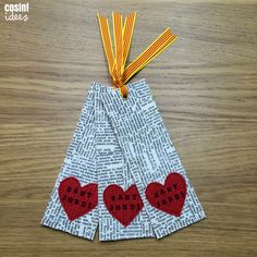 Easy Paper Crafts Origami for Home Decoration DIY - Your Info Master Bookmarks Kids, Bookmark Craft, Bookmark Ideas, Paper Crafts Origami, Paper Crafts For Kids, Diy Paper, Homemade Bookmarks, Watercolor Bookmarks, Valentine Activities