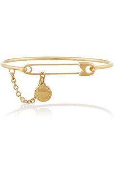 Marc by Marc Jacobs|Music Fiend gold-plated cubic zirconia bracelet|NET-A-PORTER.COM