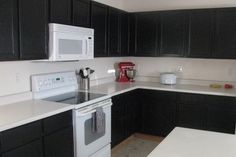 Black Kitchen Cabinets Painted