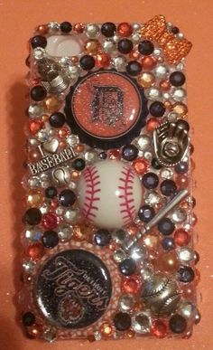 Bling Detroit Tigers Case available in iPhone 4,4s,5,5s,5c, Samsung GS3,GS4, GS5