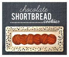 Chocolate shortbread cookies #chocolate #shortbread #cookies