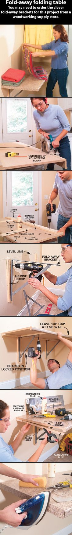 The family handyman  Fold-away folding table